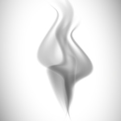 gray smoke on a white  background