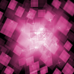 Pink Cubes Background Means Girly Style Or Digital Concept