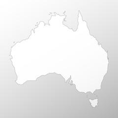 Australia map background vector