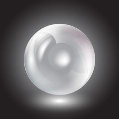 transparent sphere on a black background vector