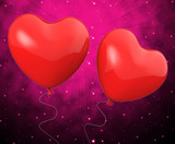 Heart Balloons Show Mutual Attraction And Affection poster