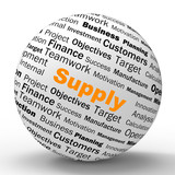 Supply Sphere Definition Shows Goods Provision Or Product Demand poster