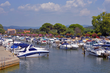 Port of La Londe-les-Maures in France