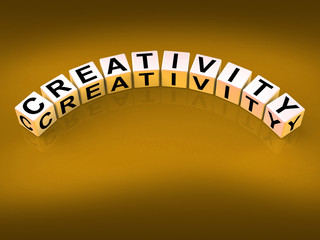 Creativity Dice Mean Inventiveness Inspiration And Ideas