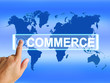 Commerce Map Shows International Commercial and Financial Busine