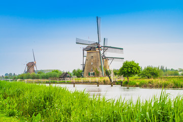 Dutch mills in Kinderdijk, Netherlands