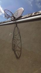 basketball net shadow