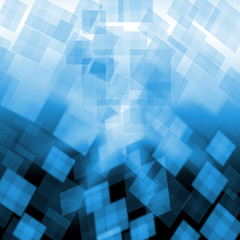 Light Blue Cubes Background Shows Pixeled Wallpaper Or Concept