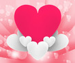 Heart On Heart Clouds Shows Romantic Dream Or Peaceful Relations