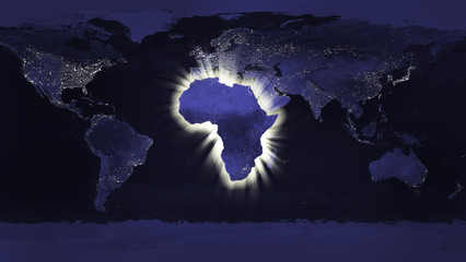 Africa concept (Some elements used from earthobservatory / nasa)