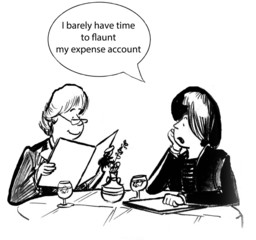 Flaunt the expense account