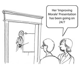 Improving morale presentation