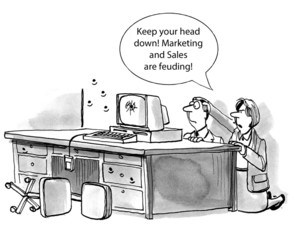 Marketing and sales feud