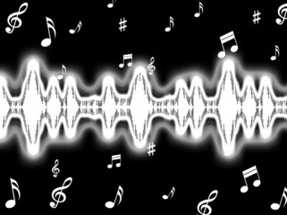 Sound Wave Background Shows Sound Pattern Or Frequency Equalizer