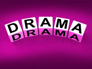 Drama Blocks Indicate Dramatic Theater or Emotional Feelings