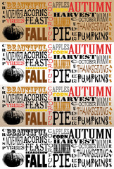 Autumn Word Art Collection-Facebook Timelines - Set of 4