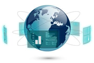 mondo connessione, dati, rete, internet