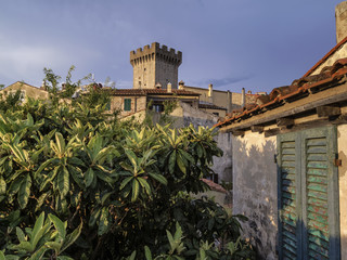 italy, tuscany, Capalbio, medieval tower