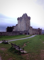 ross castle and benches
