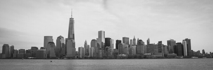 Manhattan Skyline with Freedom Tower Panorama