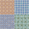 Set of four ceramic tiles patterns
