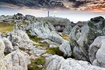 Unreal rocky coastline