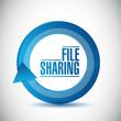 file sharing cycle illustration design