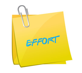effort post message illustration design
