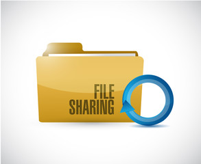 file sharing folder cycle illustration design