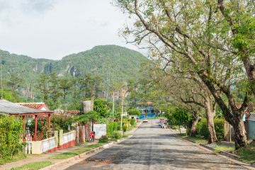 The town of Vinales in Cuba
