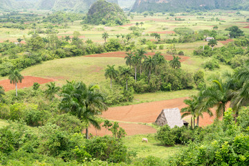Aerial view of the Vinales Valley in Cuba