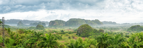 Fotobehang Caraïben Panoramic view of the Vinales Valley in Cuba