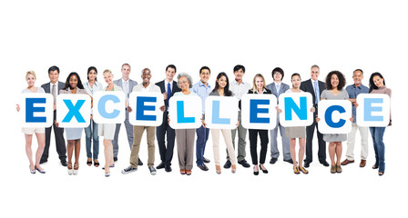Group of Business People Holding Word Excellence