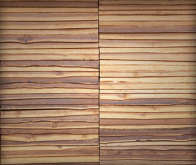 Teak wood wall background