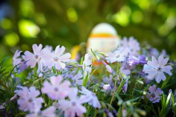 Osterdeko Blumenbeet