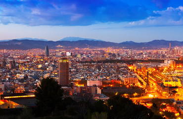 Barcelona city in night
