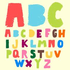 doodle pastel color alphabet set