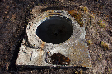 Open manhole without cover