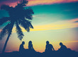 Retro Sunset Hawaii Friends - 64389949