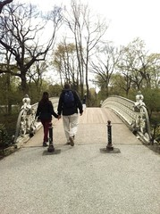 Couple on Bridge in Central Park