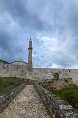 Festung mit Minarett in Travnik