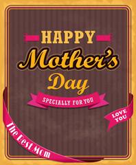 Vintage Mothers day poster design