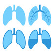 Human Lung Icons Set - 64390599