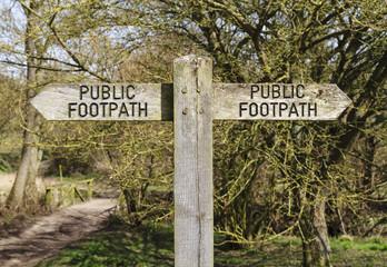 Public footpath sign 3