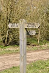 Public footpath sign 1