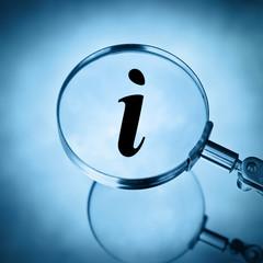 magnify info symbol