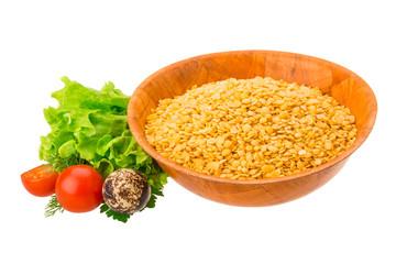 Yellow raw Lentils