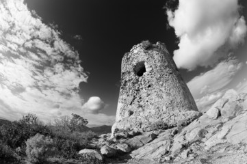Coastal Tower  black & white