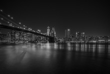 Papier Peint - Brooklyn Bridge at night, New York