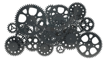 group of black gears
